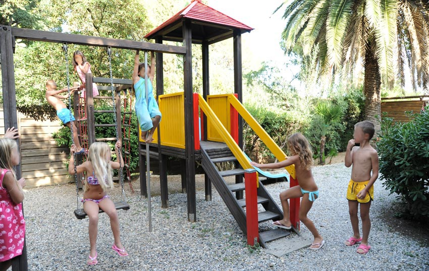 The playground for children
