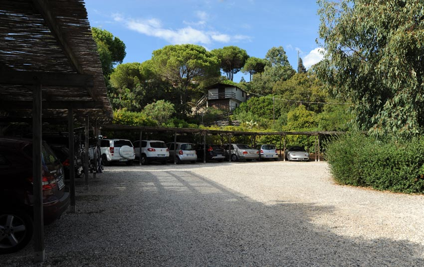 The covered parking